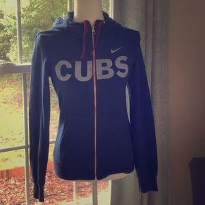 Nike Chicago Cubs zippered hooded sweatshirt